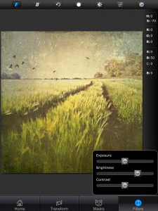 superimpose - unmasked foreground brightness